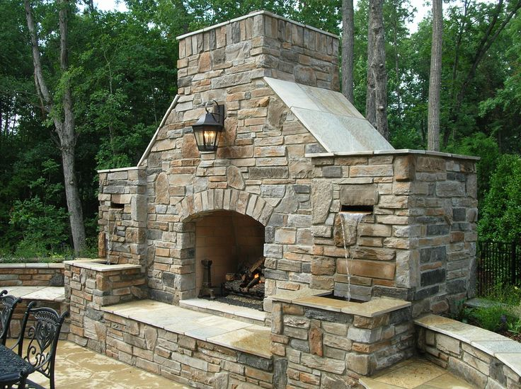 tips combination outdoor fireplace and water fountainoutdoor