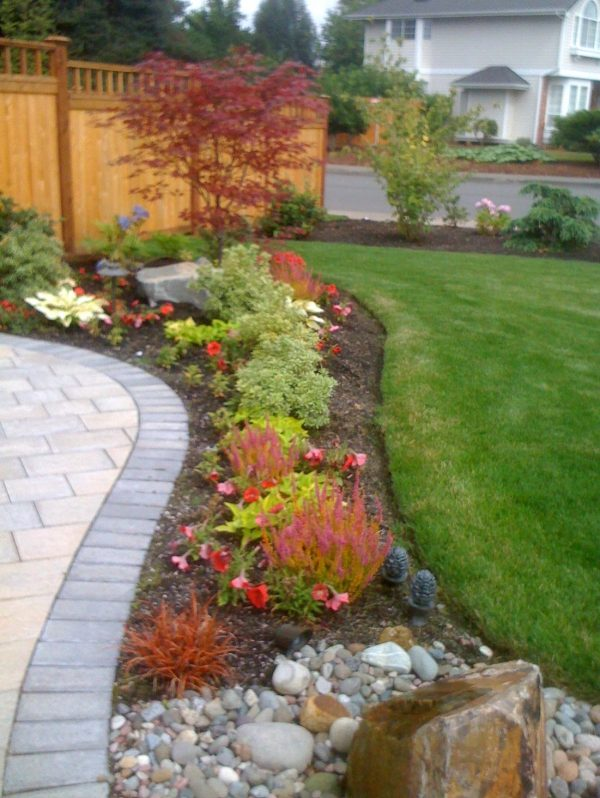 Tips Corner House Backyard Ideas Designs Rock Garden Front Yard Medium