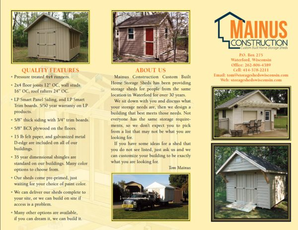 Tips Milwaukee Storage Shed Brochureshed Building Ideas Medium