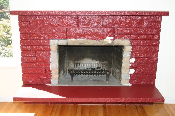 Tips Remodelaholicrestoring A Painted Stone Fireplace Medium