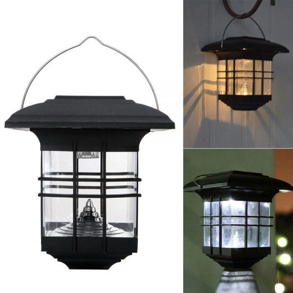 Tips Solar Powered Led Lantern Outdoor Garden Landscape Medium