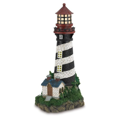 Tips Solarpowered Lighthouse Outdoor Nautical Decor Medium