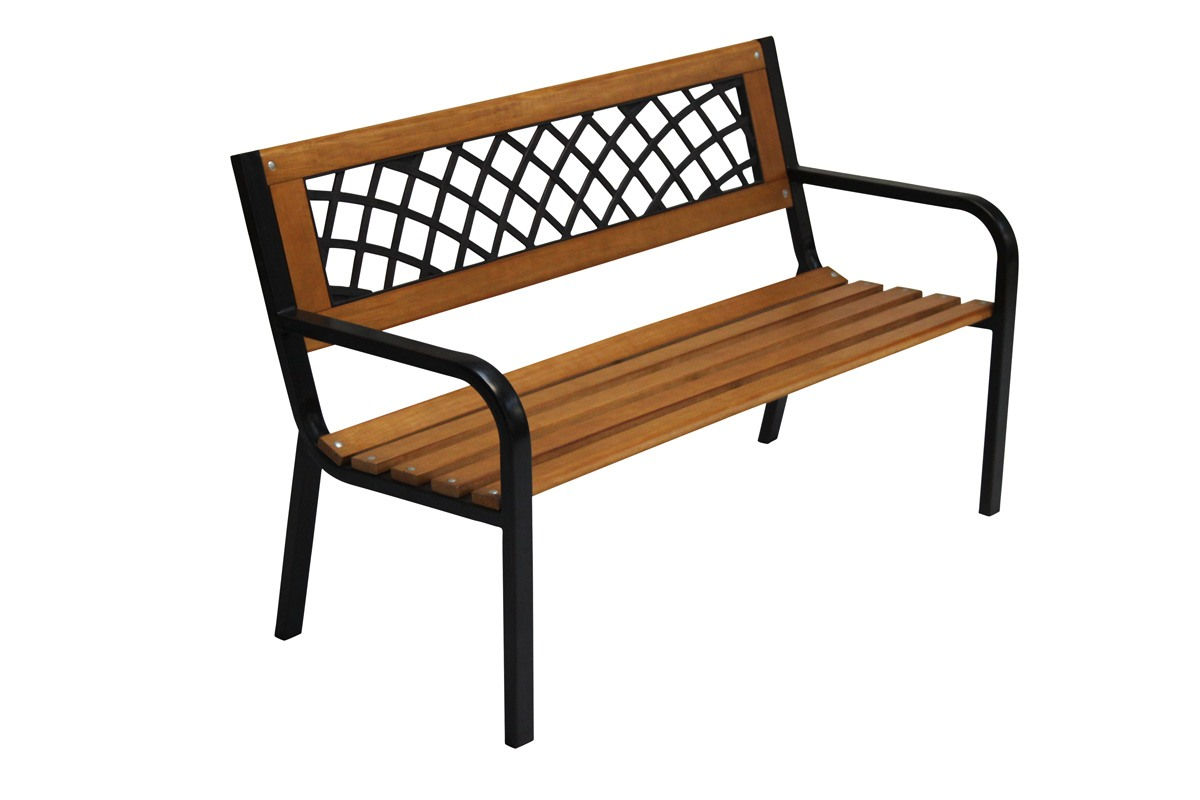 tips stockholm steel garden bench with resin back