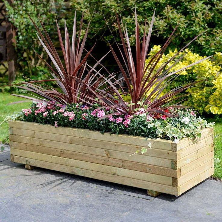 tips wooden patio rectangular planter garden large furniture