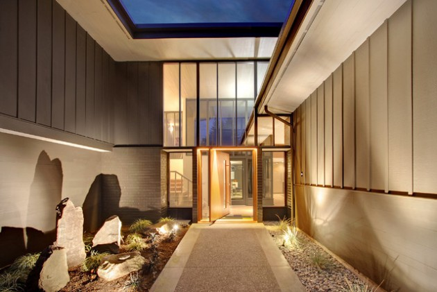 top 17 welcoming midcentury modern entrance designs that will