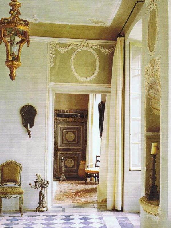 Top Green Walls With White French Moulding22 Bond St Medium