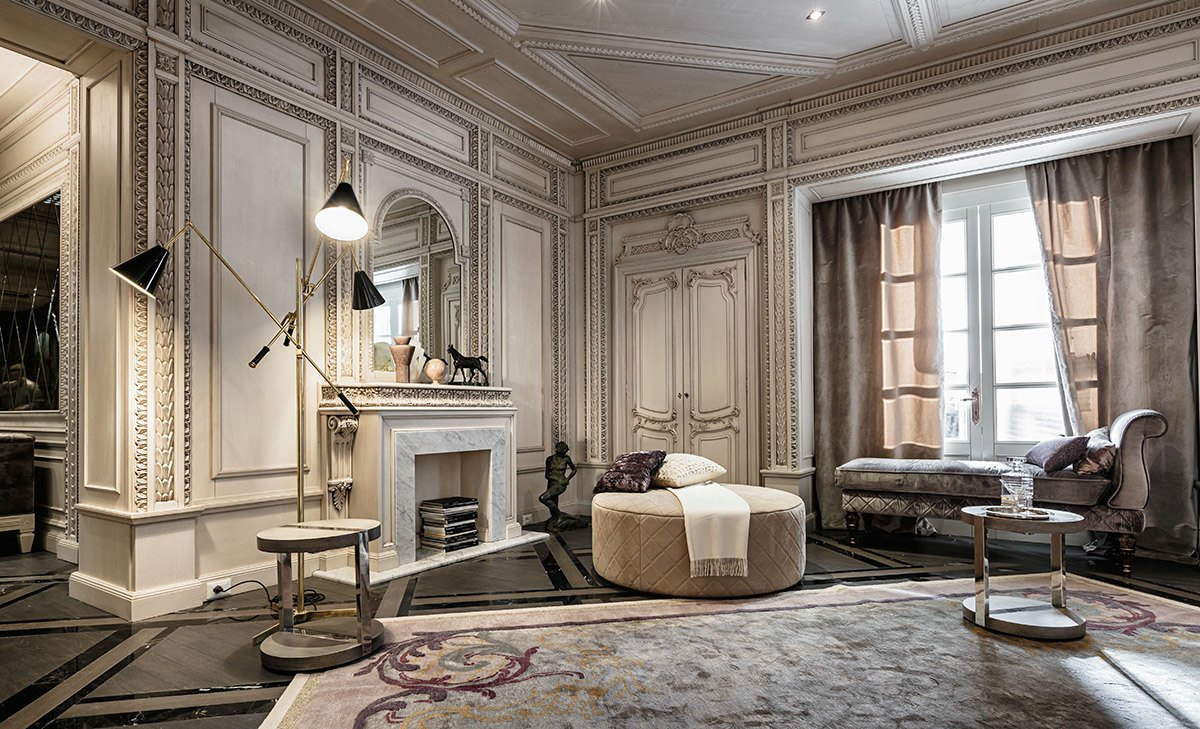 top neoclassical and art deco features in two luxurious interiors