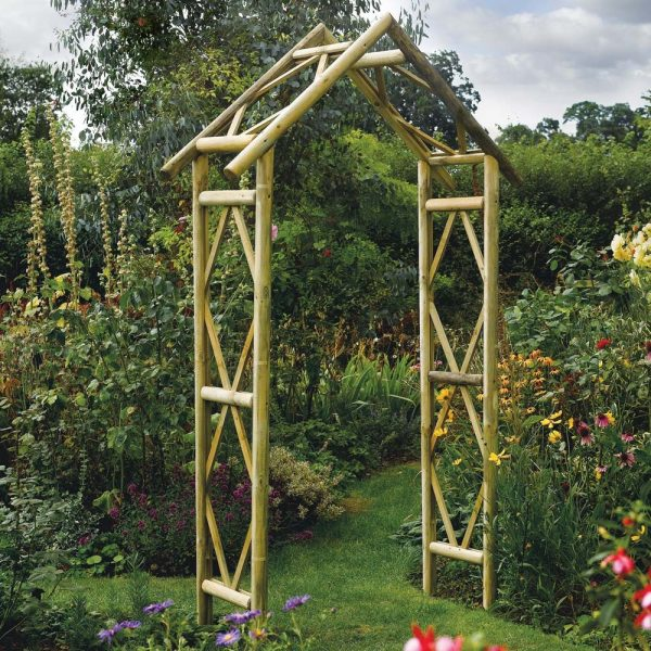Top Rustic Wooden Garden Rose Arch Westmount Living Medium
