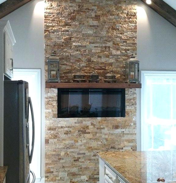 Top Stacked Travertine Fireplace  Forforainfo Medium