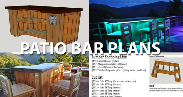 We Share Cedar Patio Bar And Concrete Top Plans Medium
