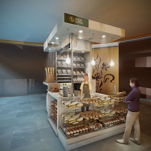 We Share Concept For A Mini Bakery Kiosk In Moscow By Spaceagency Medium