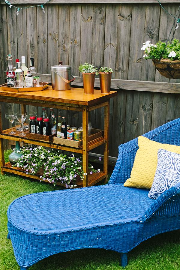 we share diy indoor outdoor bart cart table
