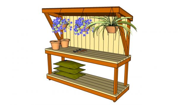 we share garden work bench plansmyoutdoorplansfree