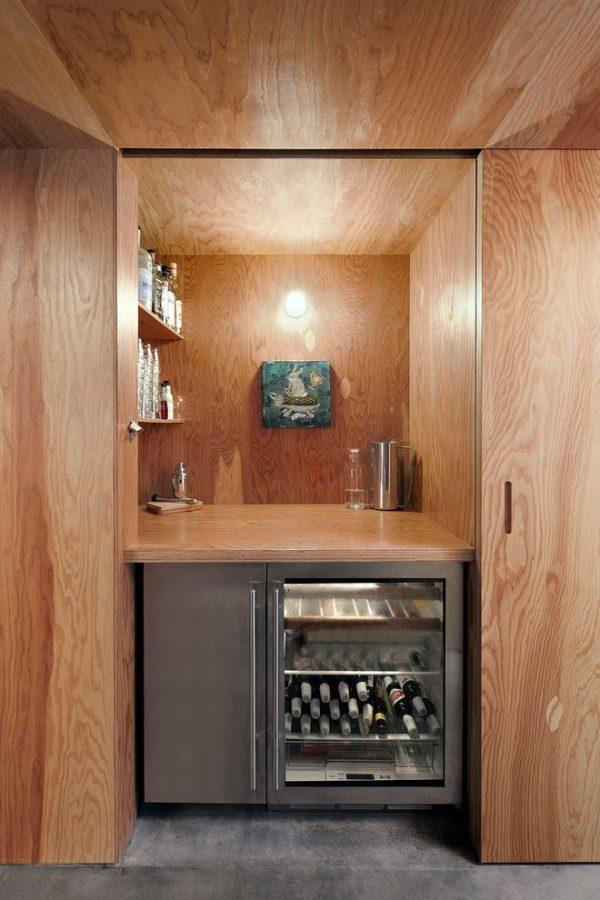 We Share Hidden Bar Home Bar Contemporary With Contemporary Wine Medium