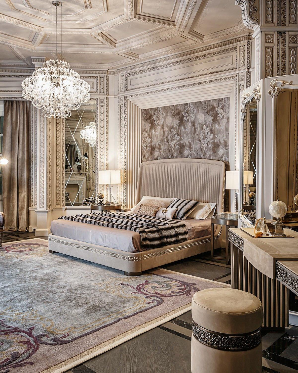 we share neoclassical and art deco features in two luxurious interiors