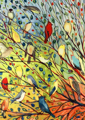 we share toland home garden tree birds 125 x 18inch decorative