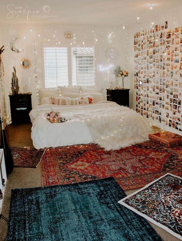 Beautifull Holiday Beddroom Decorating Ideas With Lights Ad4 Medium