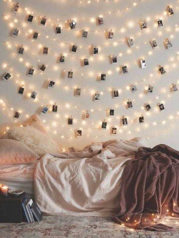 Beautifull Holiday Beddroom Decorating Ideas With Lights Ad5 Medium