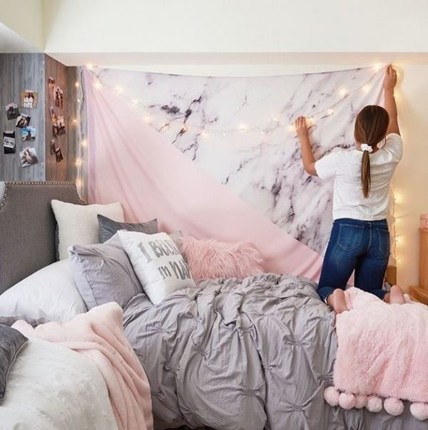 Beautifull Holiday Beddroom Decorating Ideas With Lights Ad6 Medium