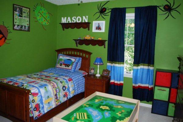 Bluegreenpaintstyleskidsroom Medium