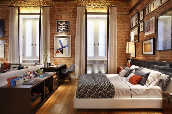 TopExposedBrickBedroomDecorating Medium