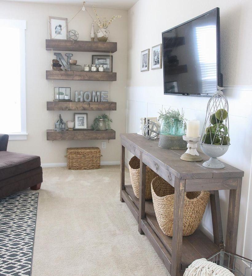 farmhouse style living room decor ideas 15