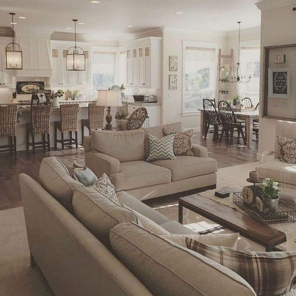 farmhouse style living room decor ideas 35