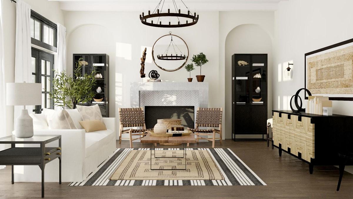 farmhouse style living room decor ideas 36