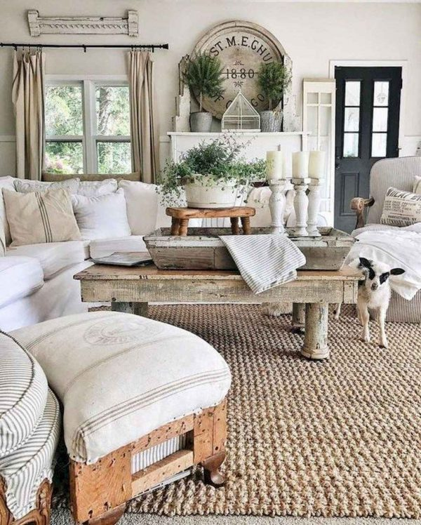 FarmhouseStyleLivingRoomDecorIdeas6 Medium