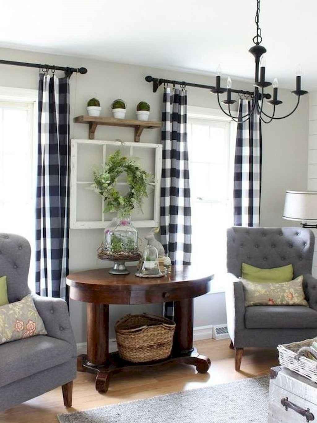 farmhouse style living room decor ideas 63