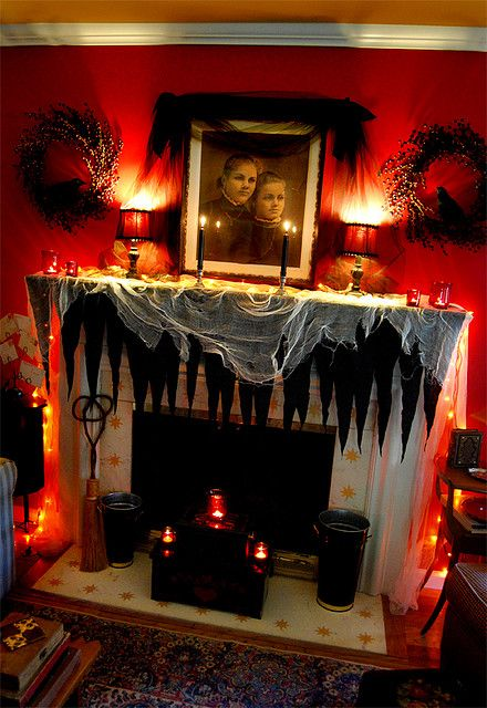 Creative Halloween Mantle Decorating Ideashalloweenhalloween Medium