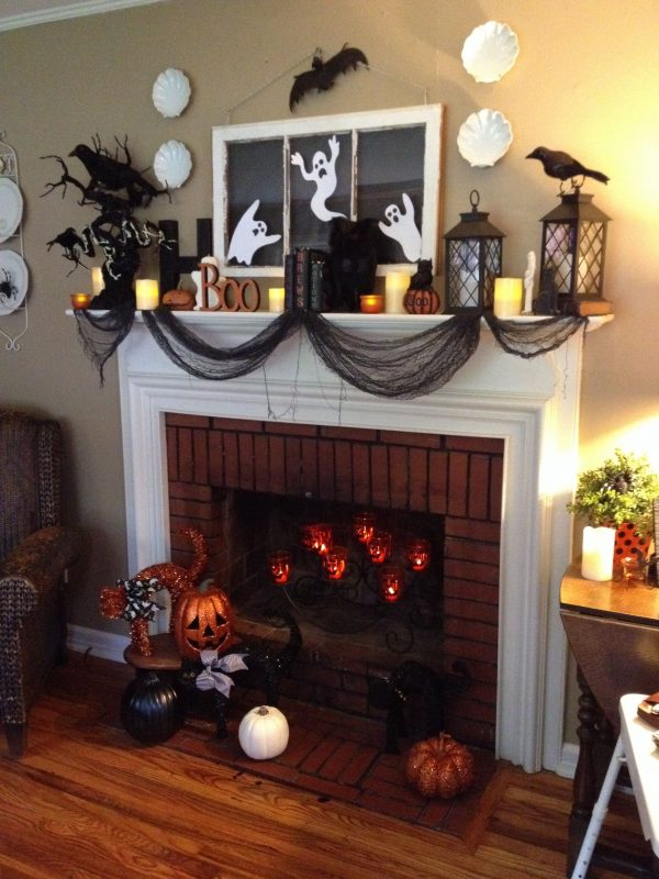 Example Of A 15 Halloween Mantle Decorating Ideas I Especially Love Medium