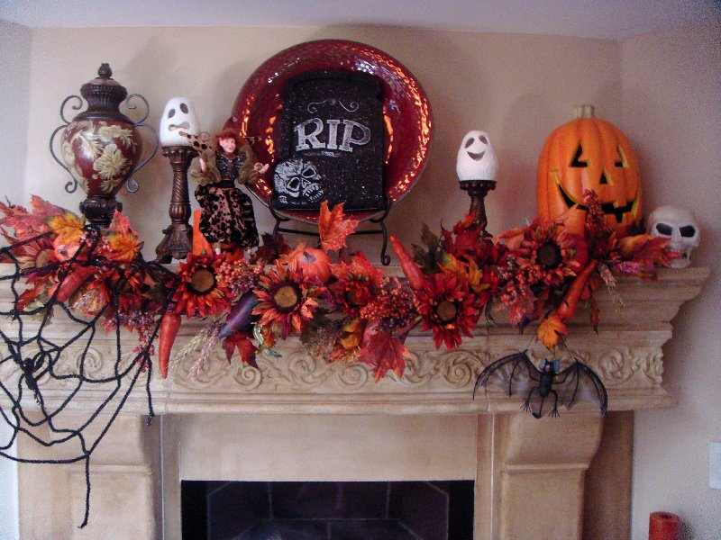 example of a 50 great halloween mantel decorating ideasdigsdigs