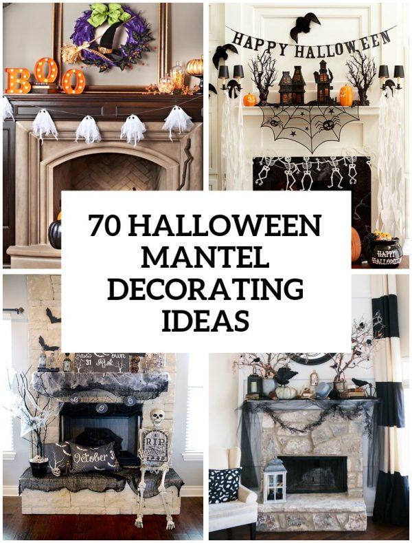 Get 70 Great Halloween Mantel Decorating Ideas Digsdigs Medium