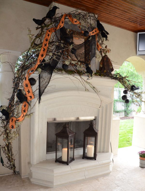 Popular 23 Best Ideas For Halloween Decorations Fireplace And Mantel Medium
