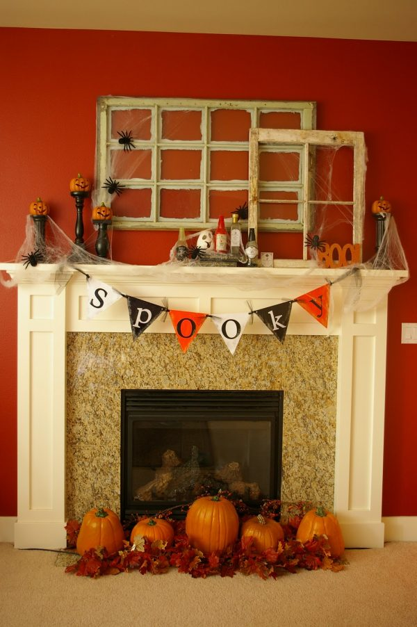 Tips 50 Great Halloween Mantel Decorating Ideasdigsdigs Medium