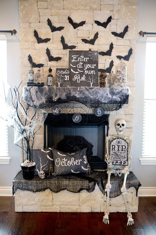 Tips 70 Great Halloween Mantel Decorating Ideas Digsdigs Medium