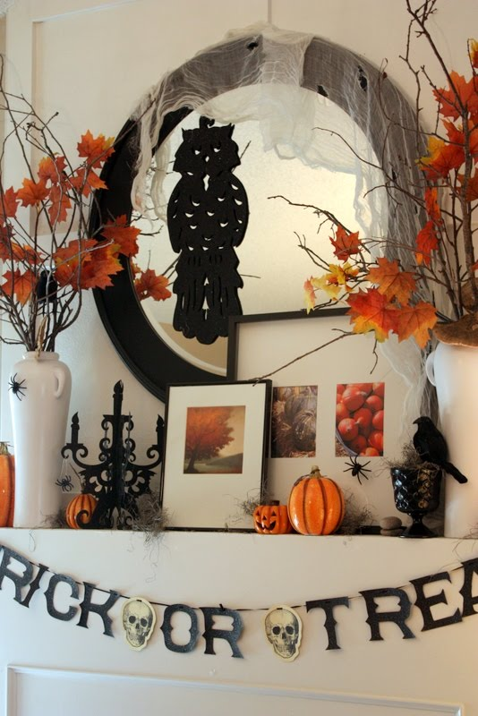 tips 70 great halloween mantel decorating ideas digsdigs