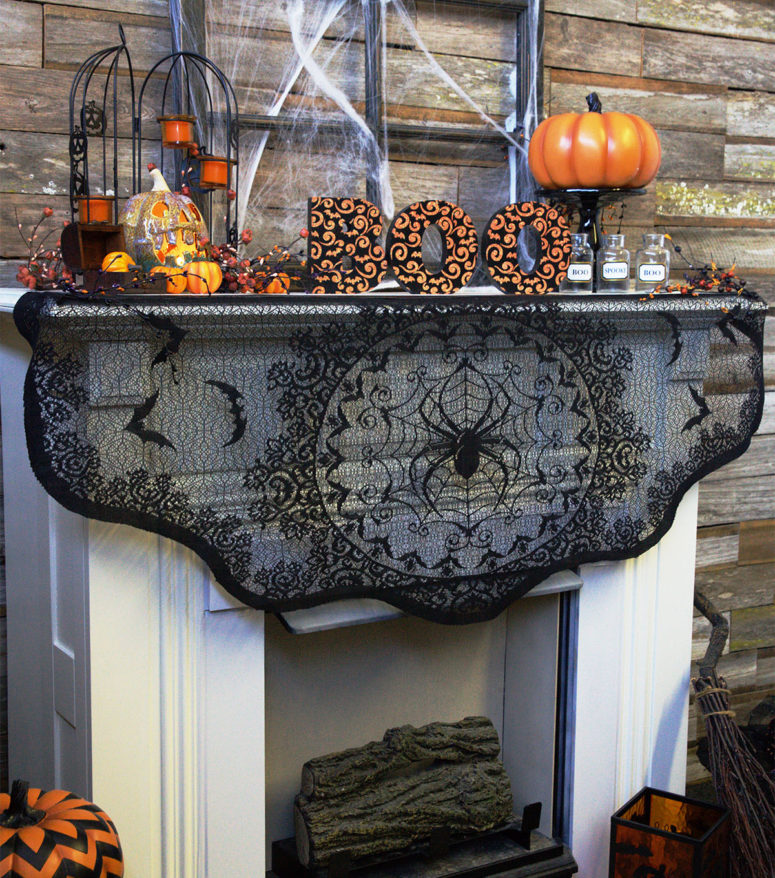 we share 70 great halloween mantel decorating ideas digsdigs
