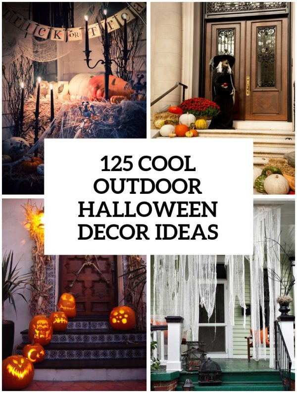 Fresh 125 Cool Outdoor Halloween Decorating Ideas Digsdigs Medium
