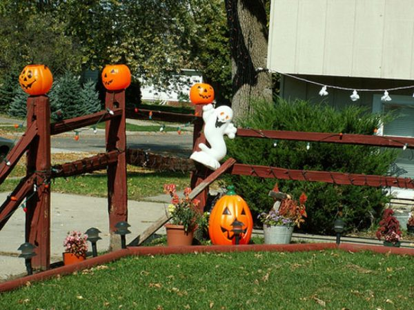 Style Outside Halloween Decorations Ideas Best Outdoor Medium
