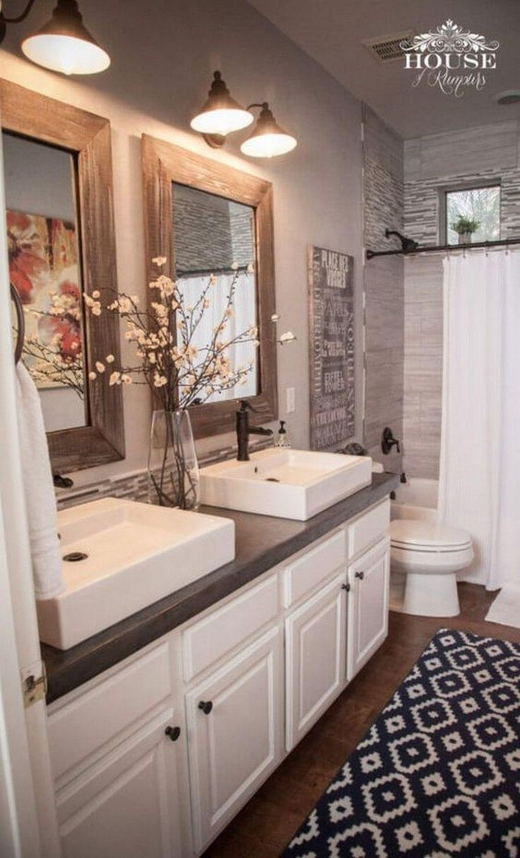 farmhouse bathroom design 15
