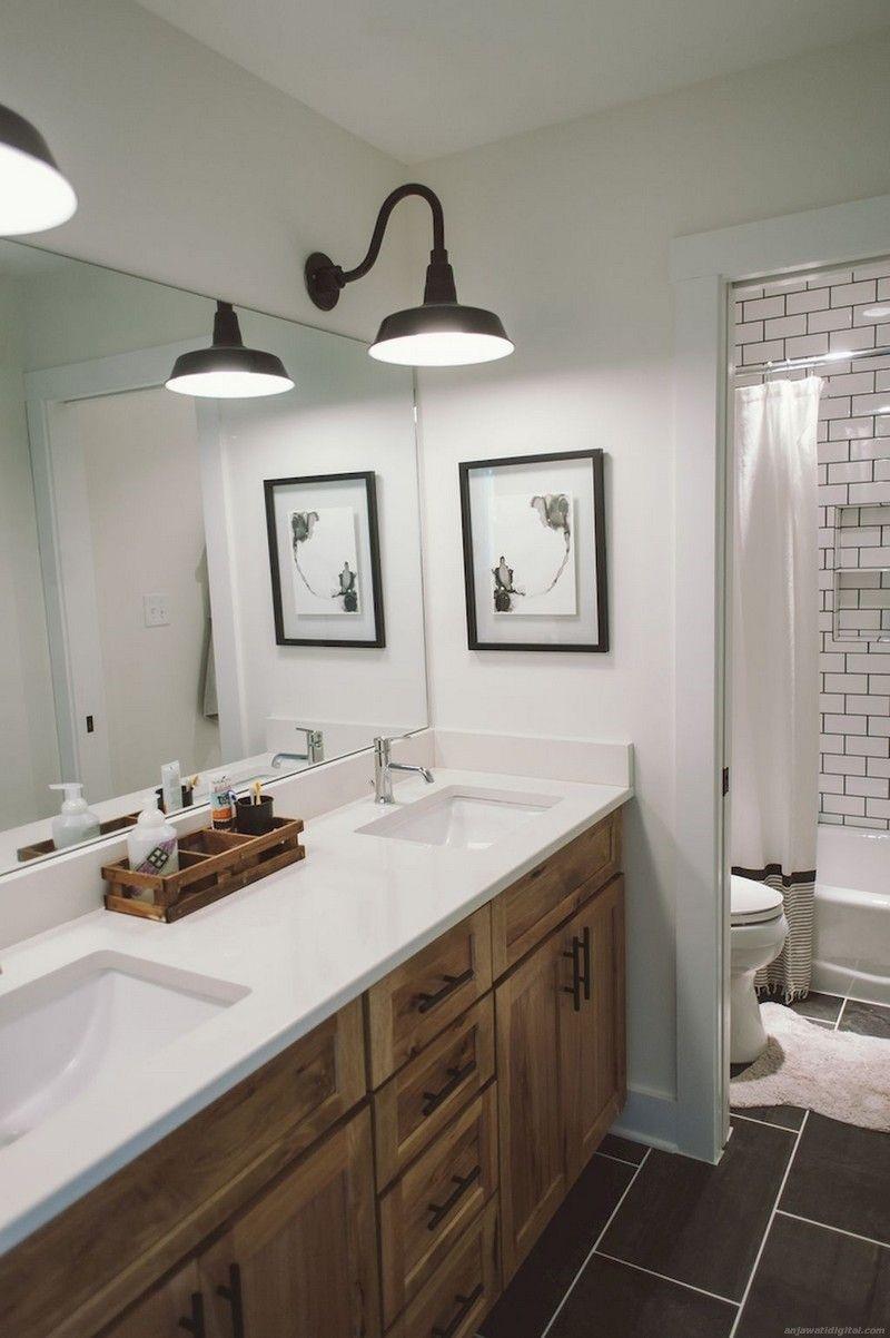 farmhouse bathroom design 22
