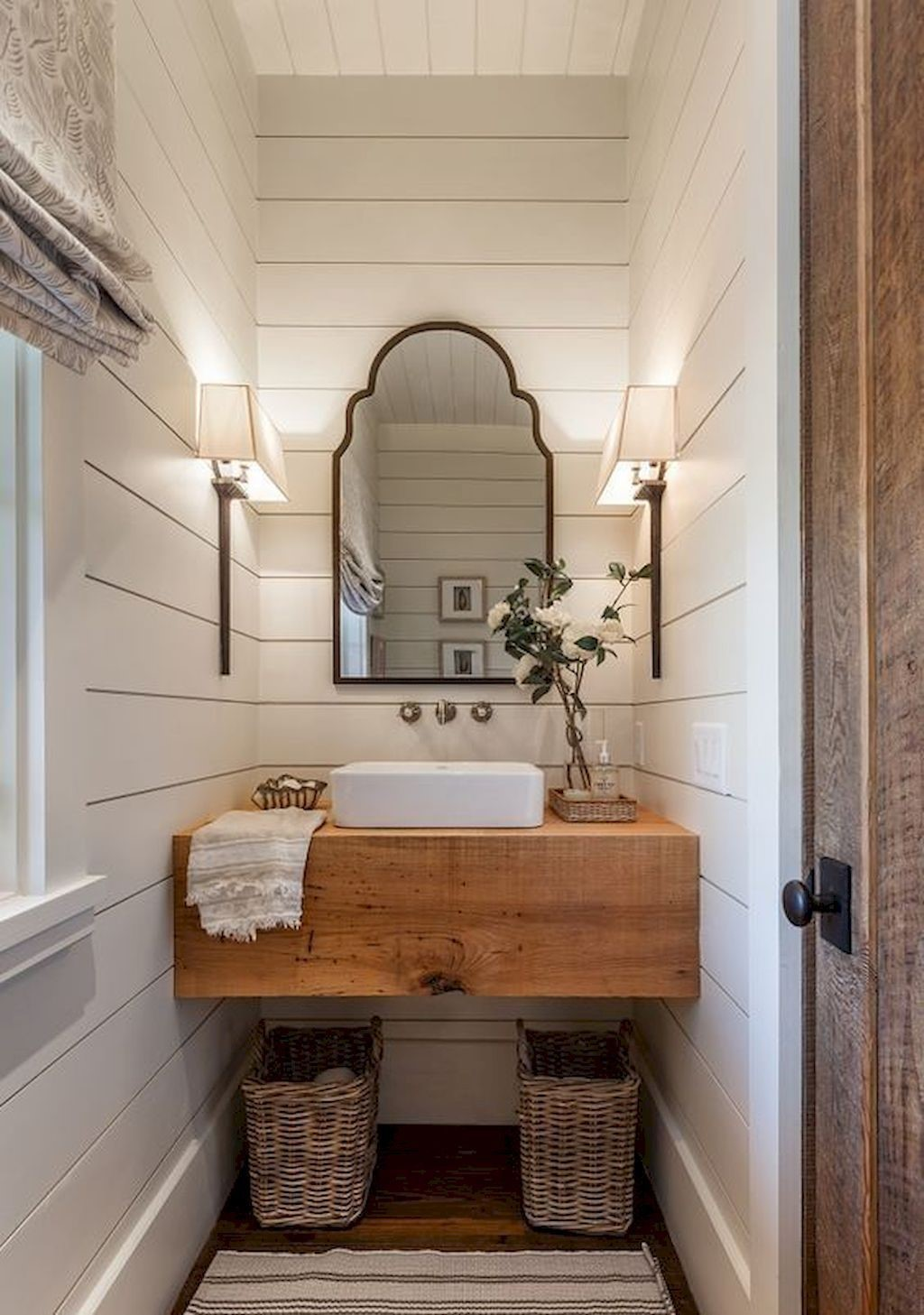 farmhouse bathroom design 28