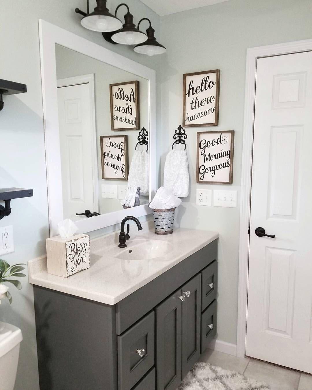 farmhouse bathroom design 29