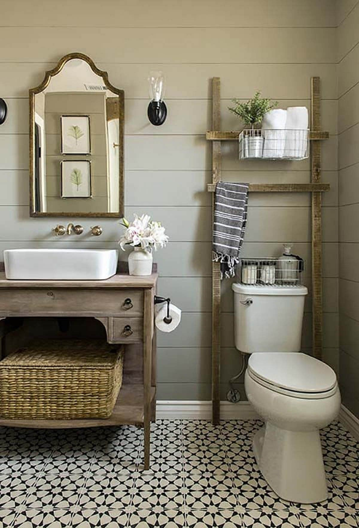 farmhouse bathroom design 34