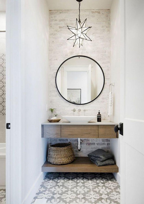 farmhouse bathroom design 36