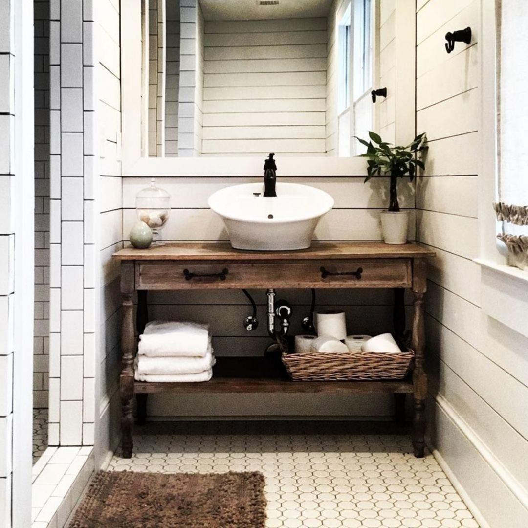 farmhouse bathroom design 38
