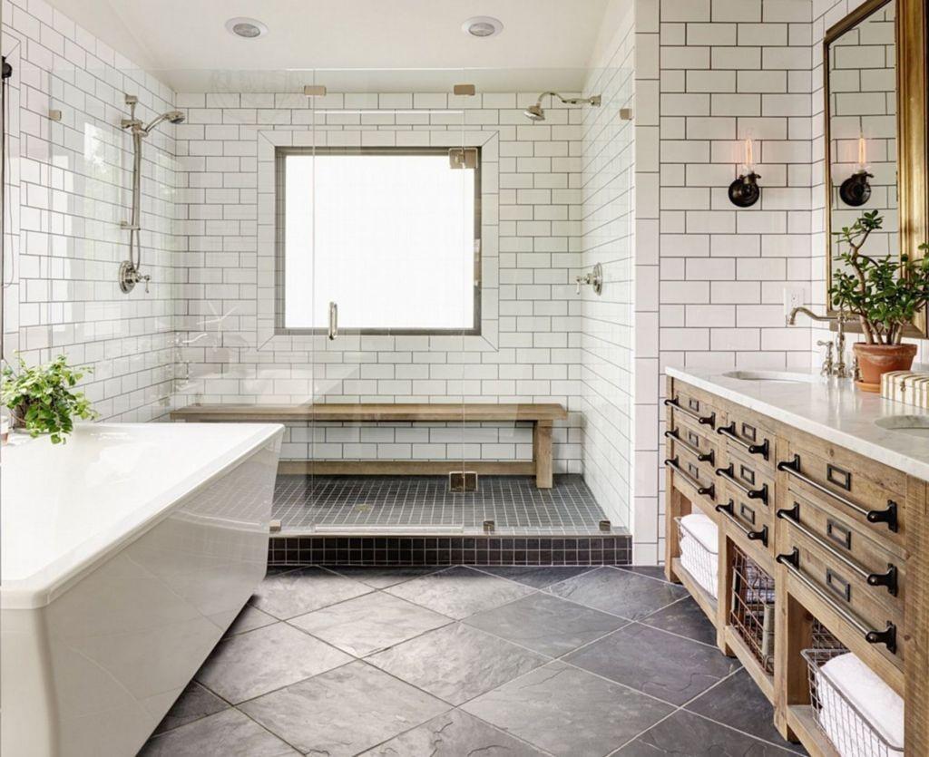 farmhouse bathroom design 39