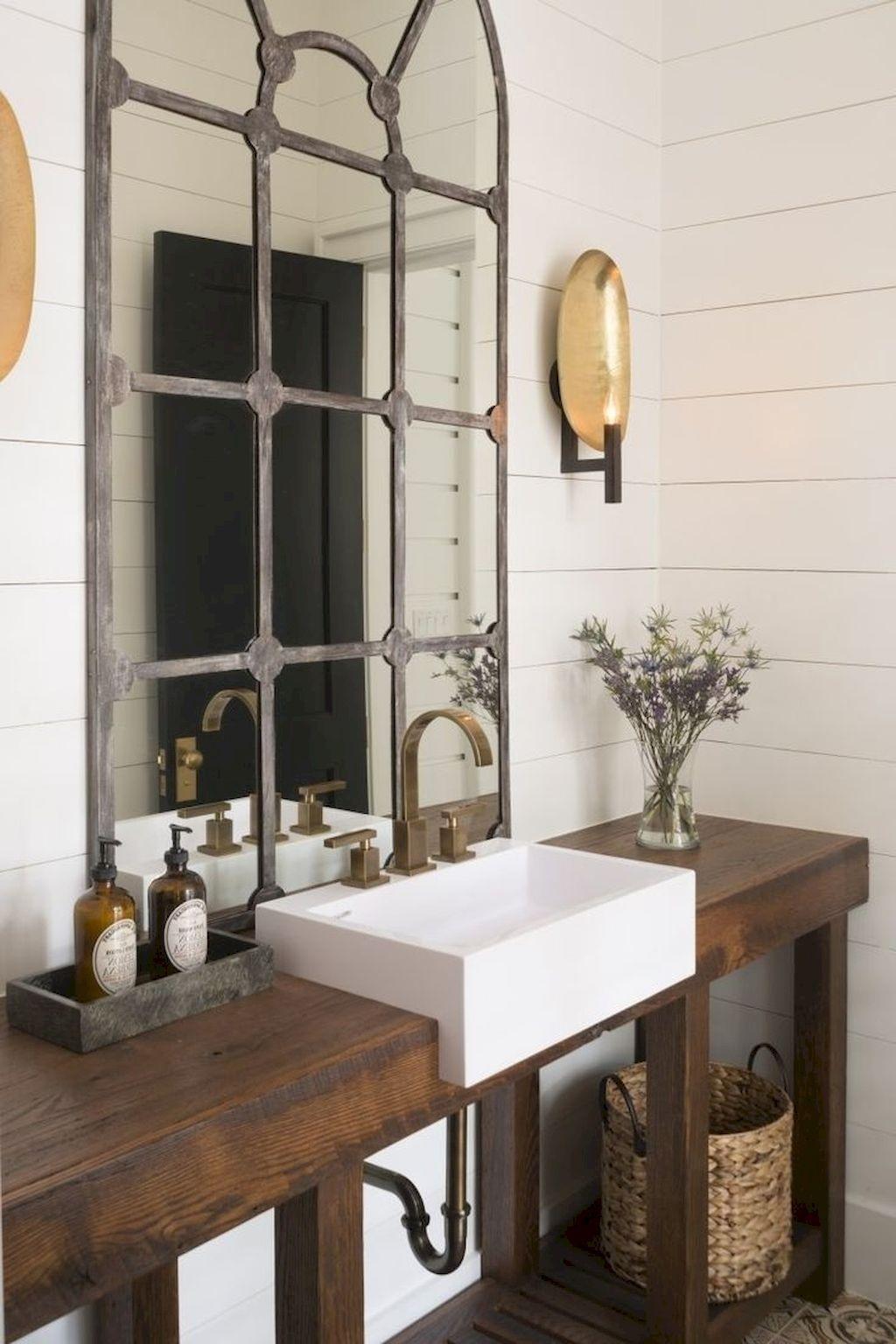 farmhouse bathroom design 41